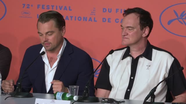 INTERVIEW Leonardo DiCaprio on working with Quentin Tarantino his knowledge at 'Once Upon a time in Hollywood' Press Conference The 72nd Cannes Film...
