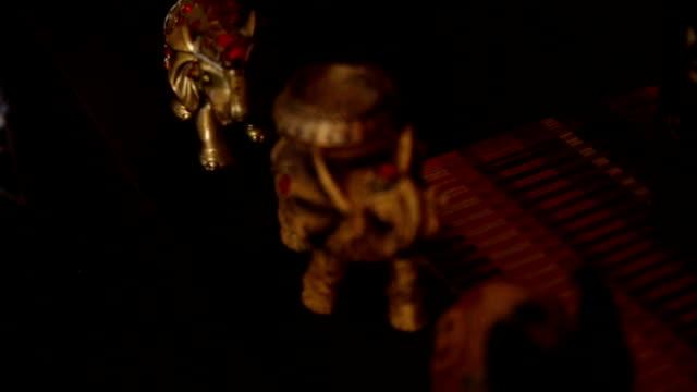 еlephants figurine - figurine stock videos & royalty-free footage