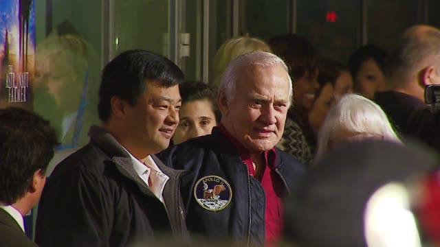leroy chiao and buzz aldrin at the 'the astronaut farmer' premiere at the cinerama dome at arclight cinemas in hollywood california on february 20... - the astronaut farmer stock videos and b-roll footage