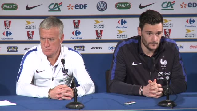 les bleus prepare to return to the stade de france for the first time since the november attacks in paris as they take on russia in a pre euro 2016... - hugo lloris stock videos and b-roll footage