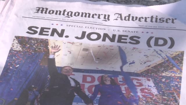 Les electeurs de l Alabama reagissaient mercredi matin a l election du candidat drmocrate au Senat battant le republicain controverse accuse...