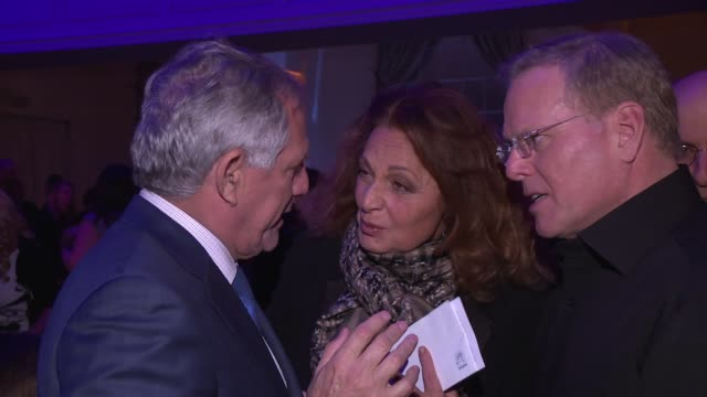 les moonves and diane von furstenburg at the natural resources defense council presents nrdc's night of comedy benefit 2016 at 583 park avenue on... - national resources defense council stock videos & royalty-free footage