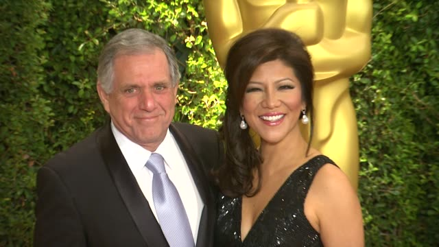 les moonves julie chen at academy of motion picture arts and sciences' governors awards in hollywood ca on - academy of motion picture arts and sciences stock videos & royalty-free footage