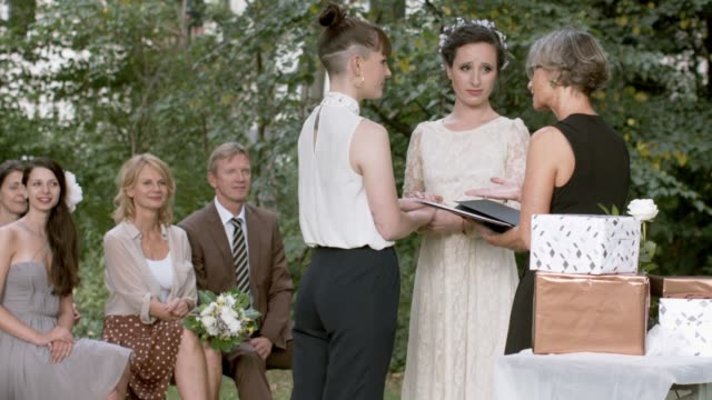 Lesbian couple getting married