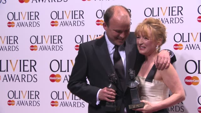 BROLL Lesley Manville and Rory Kinnear at The Laurence Olivier Awards with MasterCard on April 13 2014 in London England