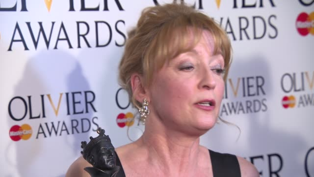 INTERVIEW Lesley Manville on winning an Olivier Award working on 'Ghosts' and her friendship with her fellow nominees at The Laurence Olivier Awards...