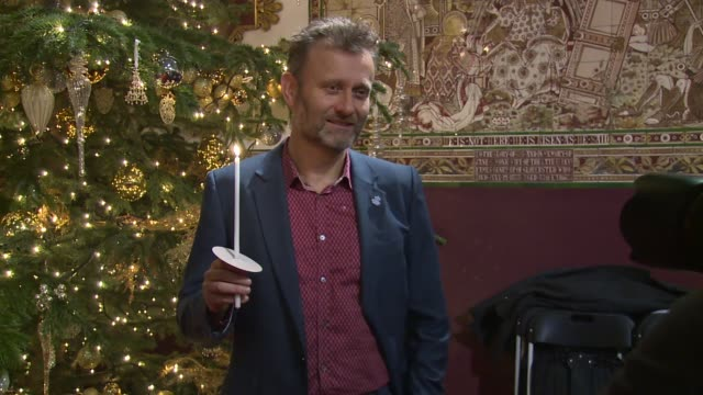 BROLL Lesley Manville Tony Robinson Ruth Langsford Hugh Dennis at St Paul's Church on December 15 2015 in London England