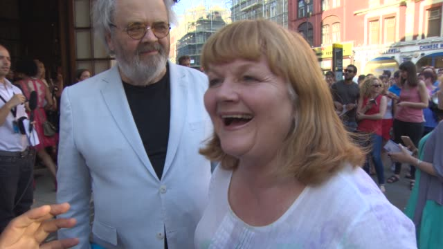 INTERVIEW Lesley Nicol on see the show the hot weather Wimbledon The end of 'Downton Abbey' Downton Abbey becoming a film at The Curious Incident of...