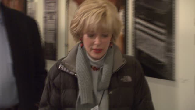 lesley stahl at the special screening of 'charlie wilson's war' at the museum of modern art in new york new york on december 16 2007 - stahl stock videos & royalty-free footage