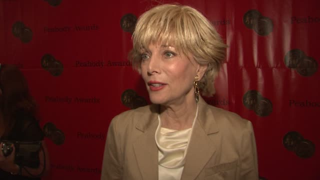 lesley stahl tim russert at the 67th annual peabody awards at new york ny - stahl stock videos & royalty-free footage