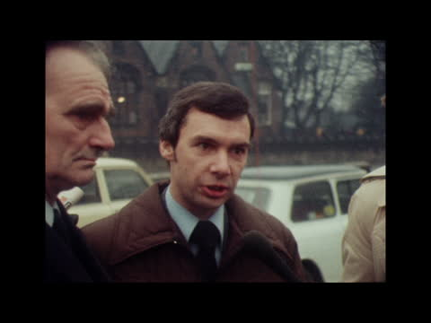 lesley whittle kidnapping: tape recordings of man believed to be kidnapper released; c) england: staffordshire: kidsgrove: ext / rain ronald whittle... - office stock videos & royalty-free footage