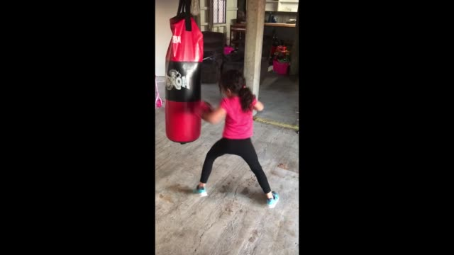 lesli valu akeripa falefehi from queensland australia is only 6 years old but she's well on her way to becoming a boxing star watch her incredible... - 4 5 years stock videos & royalty-free footage