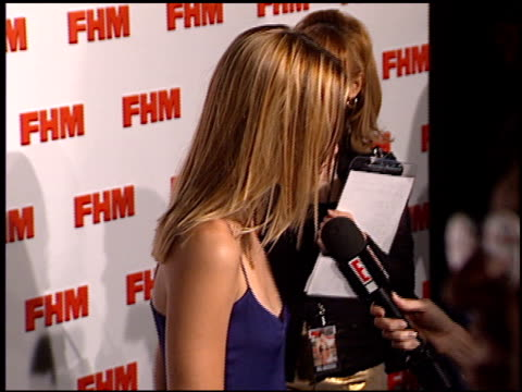 Leslie Bibb at the FHM Magazine 100 Sexiest Women at La Boheme in West Hollywood California on May 17 2001