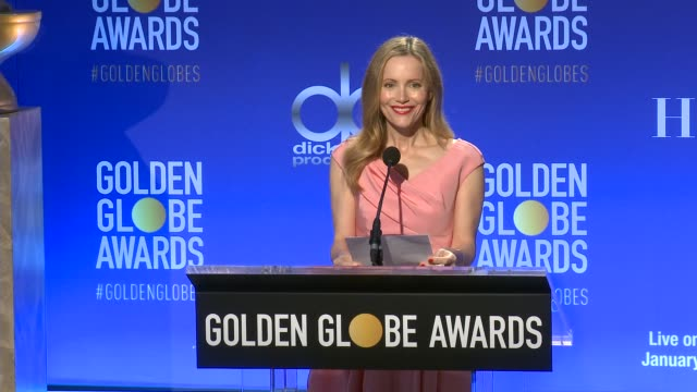vídeos de stock, filmes e b-roll de leslie mann at 76th annual golden globe awards nominations at the beverly hilton hotel on december 06, 2018 in beverly hills, california. - leslie mann