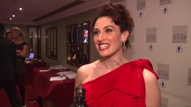 Leslie Margherita on being overwhelmed by the award at the Laurence Olivier Awards 2009 at London