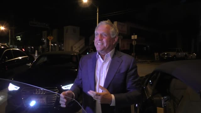 INTERVIEW Leslie Moonves says Donald Trump is wrong but NFL ratings are up outside Craig's Restaurant in West Hollywood in Celebrity Sightings in Los...