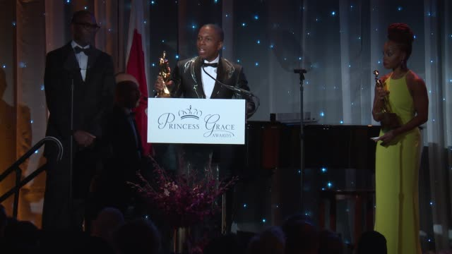 speech leslie odom jr at the 2016 princess grace awards gala at cipriani 25 broadway on october 24 2016 in new york city - cipriani manhattan stock videos & royalty-free footage