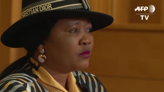 lesotho first lady maesaiah thabane appears in court for the allegedy murder of prime minister thomas thabane's former wife - prime minister video stock e b–roll