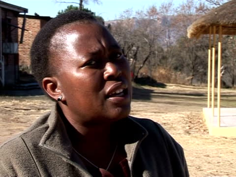 lesotho is one of the poorest countries in the world and has one of the highest rates of hiv infection -- about 30 percent among the adult... - retrovirus video stock e b–roll