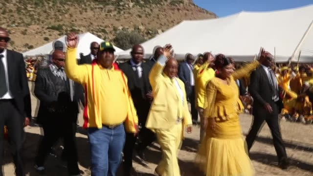 lesotho's beleaguered prime minister, thomas thabane, finally resigns, ending a months-long crisis that engulfed the kingdom after he was accused of... - prime minister stock videos & royalty-free footage