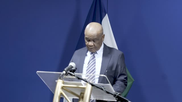 lesotho's prime minister thomas thabane reiterates his intention to retire by the end of july, saying that a significant step in that direction has... - prime minister video stock e b–roll