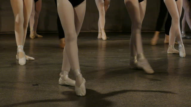 lesson in ballet school
