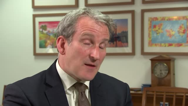 damian hinds interview england london int damian hinds mp interview continues sot re lgbt lessons row - damian hinds stock videos and b-roll footage