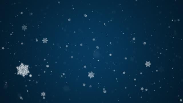 vídeos de stock e filmes b-roll de let it snow - floco de neve