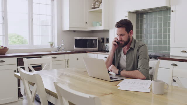 let me call the bank to inquire about this - life insurance stock videos & royalty-free footage