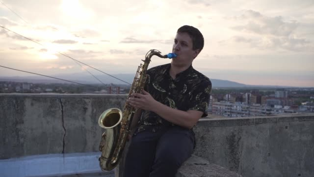 let me introduce you with amazing sound of saxophone - musician stock videos & royalty-free footage