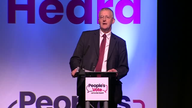 GBR: BREXIT: Let us be heard campaign begins for A People's Vote with a rally in Leeds.