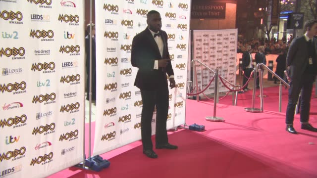 lethal bizzle at mobo awards at first direct arena on november 4 2015 in leeds england - リーサルビズル点の映像素材/bロール