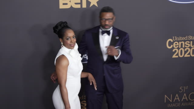 letitia johnson derrick johnson at the 51st naacp images awards on february 22 2020 in pasadena california - naacp stock videos & royalty-free footage