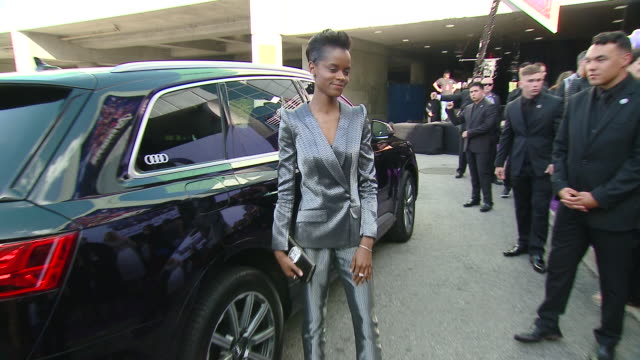 """letitia wright at audi at the world premiere of """"avengers endgame"""" in los angeles ca - letitia wright stock videos and b-roll footage"""