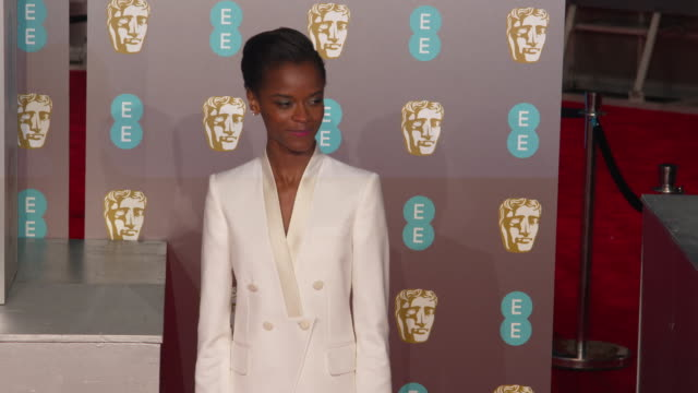 letitia wright at ee british academy film awards 2019 at royal albert hall on february 10 2019 in london england - letitia wright stock videos and b-roll footage