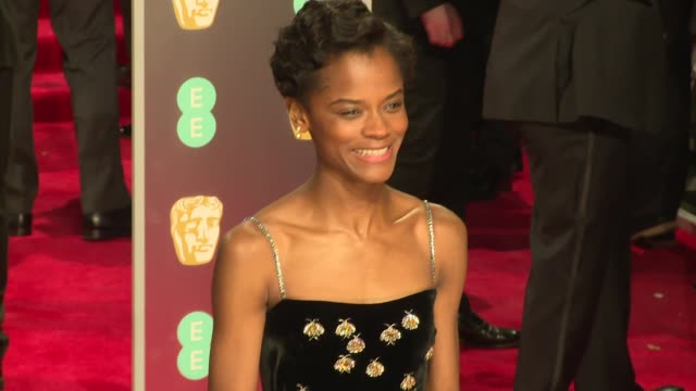 Letitia Wright at Royal Albert Hall on February 18 2018 in London England