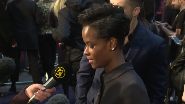 letitia wright at television studios white city on april 08 2018 in london england - letitia wright stock videos and b-roll footage
