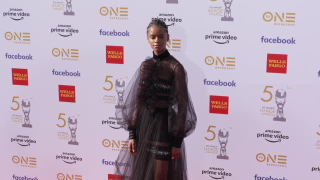 letitia wright at the 50th naacp image awards at dolby theatre on march 30 2019 in hollywood california - letitia wright stock videos and b-roll footage