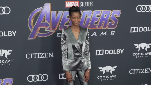 letitia wright at the world premiere of marvel studios' avengers endgame at los angeles convention center on april 22 2019 in los angeles california - letitia wright stock videos and b-roll footage