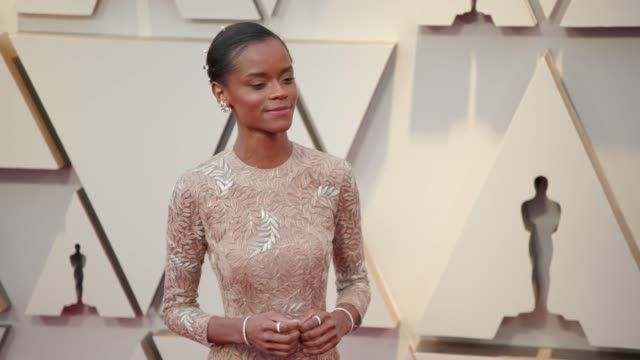 letitia wright at ther 91st academy awards arrivals at dolby theatre on february 24 2019 in hollywood california - letitia wright stock videos and b-roll footage