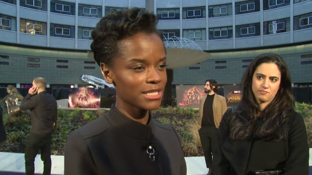 letitia wright on black panther the new movie fellow cast and taking a break at television studios white city on april 08 2018 in london england - cast member stock videos & royalty-free footage