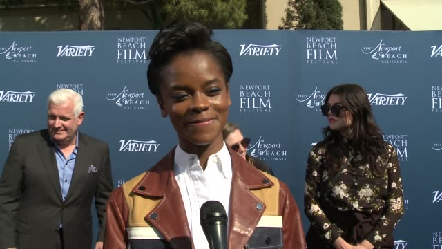 interview letitia wright on how it feels to be recognized as one of 'variety's 10 actors to watch' on taking in all the recent success and how... - letitia wright stock videos and b-roll footage