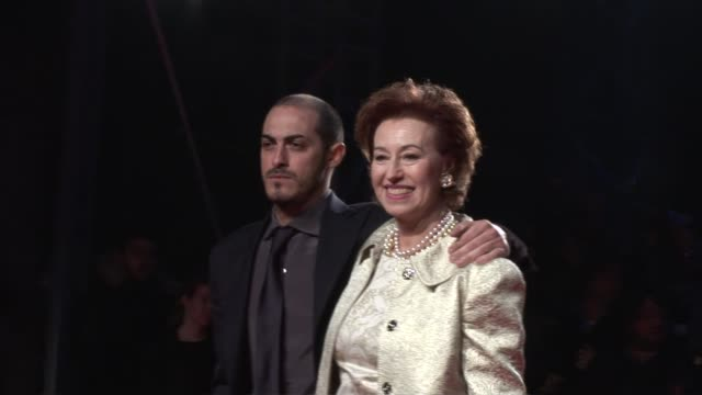 letizia moratti at the dolce & gabbana party: milan fashion week at milan . - dolce & gabbana stock videos & royalty-free footage