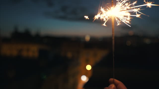 lets celebrate on the rooftop. - compleanno video stock e b–roll