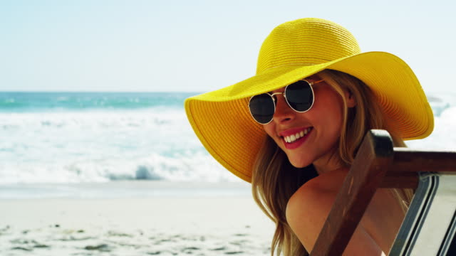 let's get this summer started - sun hat stock videos & royalty-free footage