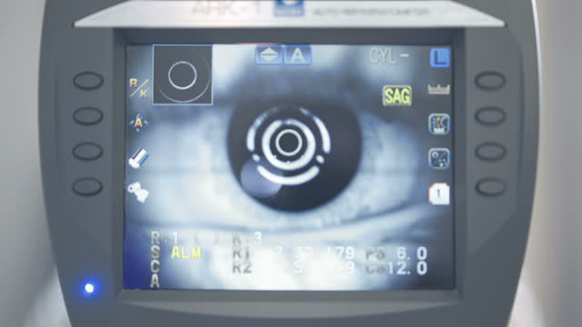 let's have an eye test - lens optical instrument stock videos & royalty-free footage