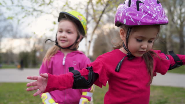 let's rollerblade together - cycling helmet stock videos & royalty-free footage