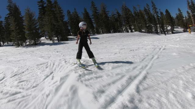let's ski kid - winter sport stock videos & royalty-free footage