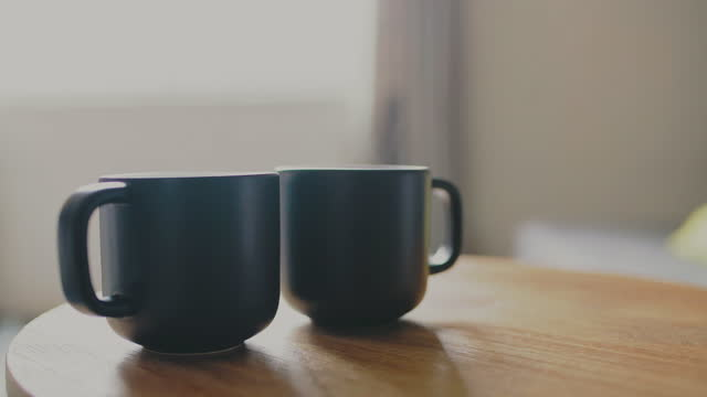 let's start the day with some coffee - two objects stock videos & royalty-free footage
