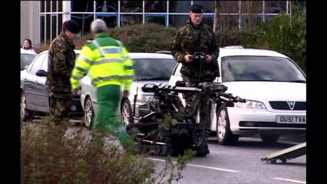miles cooper trial lib oxfordshire abingdon army bomb disposal officer with robot machine - disposal stock videos and b-roll footage
